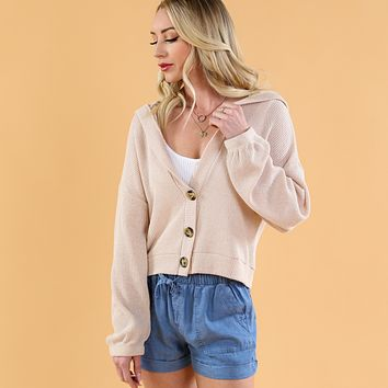 Hooded Spring Cardigan
