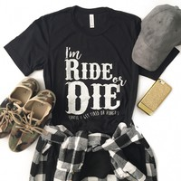 Ride or Die Black T-Shirt