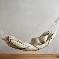 Crossed Flokati Hammock by Anthropologie