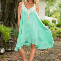 What I Crochet Goes Dress, Mint