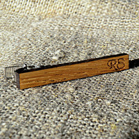 Personalized Tie Clip Wood Tie Clip Groomsmen gift ideas Groomsmen Wedding Gifts for men Valentines gifts for him