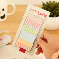 1Pcs Post It Cute Kawaii Memo Pads Sticky Notes Office Stationery Stickers Scrapbooking Planner Notes For School Supplies