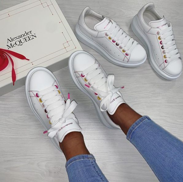 Image of Alexander McQueen Casual Little white shoes