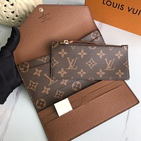 Louis Vuitton LV two-piece clutch bag card bag coin purse fashion ladies multifunctional wallet