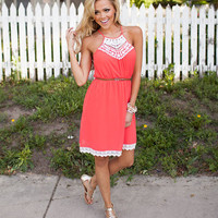 Lovable Lady Dress Coral