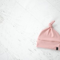 Knotted Hat in Blush