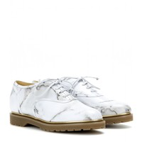 Stefania printed leather oxford shoes