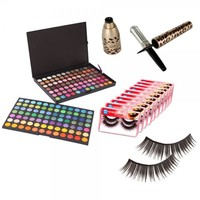 168 Color Eyeshadow Palette Eyelash Liner Makeup Set 002