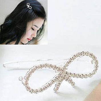 Fashion Women Girls Crystal Rhinestone Butterfly Barrette Hair Clip Hairpin Gift