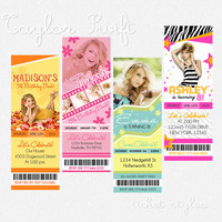 Taylor Swift Birthday Ticket Invitations - Multiple Styles Available