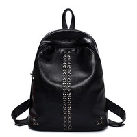 Hot Deal College On Sale Back To School Comfort Korean Rivet Stylish Casual Backpack [4982890180]
