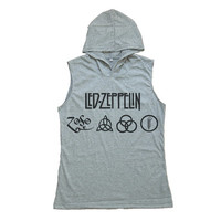Led Zeppelin Shirt Tank Top Sleeveless Hoodie T-shirt Women T Shirts Size S M