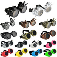 15 Colors Hot New Men Women Welding Goggles Gothic Steampunk Cosplay Antique Spikes Vintage Victorian Glasses EyewearCheap