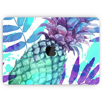 """Tropical Summer Pineapple v1 - Skin Decal Wrap Kit Compatible with the Apple MacBook Pro, Pro with Touch Bar or Air (11"""", 12"""", 13"""", 15"""" & 16"""" - All Versions Available)"""