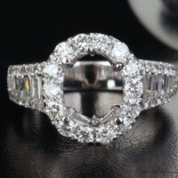 Reserved for 4444richard,Custom Made Engagement Ring,Semi Mount for 9.89 mm round,Size 7