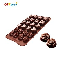 Chocolate Mold Cute Lovely Rose Silicone Fondant Cake Chocolate Mold Kitchen Sugarcraft & Chocolate Molds DIY Chocolate Moulds