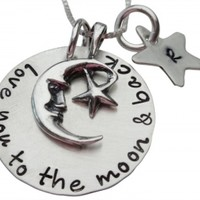 Love You To the Moon and Back with Moon Charm Necklace
