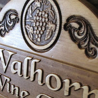 Personalized Wine Cellar Name Sign Custom Carved by Lovejoystore