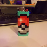 Perler Pokeball BIC Lighter Case