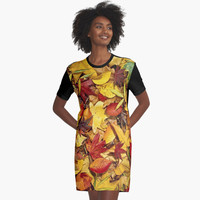 'Nature's carpet, fall for Autumn' Graphic T-Shirt Dress by Bruce Stanfield
