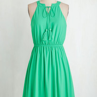 Mid-length Sleeveless A-line Verdure and Acquisition Dress by ModCloth