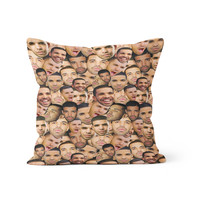 Drake Faces Pillow