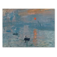 Trademark Fine Art ''Impression Sunrise'' Canvas Wall Art by Claude Monet (Blue Orange)