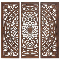 Mirrored Wall Panel, Brown, Tapestries & Panels