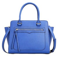Lixmee Leather Business Trapeze Women Top Handle Bag