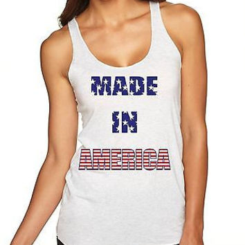 Made In America 4th Of July Women's Triblend Tanktop