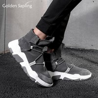 Golden Sapling High Top Sneakers Men Breathable Running Shoes Air Mesh Fabric Male Sports Sneaker Winter Trainer Man Sport Shoes