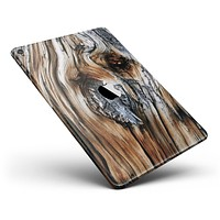 """Raw Aged Knobby Wood Full Body Skin for the iPad Pro (12.9"""" or 9.7"""" available)"""