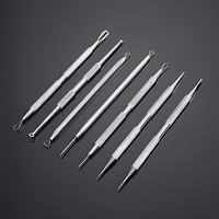 Non Slip Stainless Steel Pimple Popper Acne Blackhead Removal Needle Tool HUUS