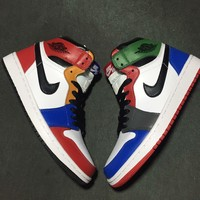 Nike Air Jordan 1 Retro Rainbow Basketball Sneaker