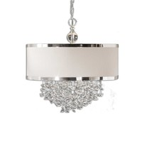 Fascination 3 Light Silken Drum Pendant