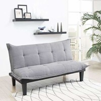 Charcoal Microfiber Futon Sofa Bed
