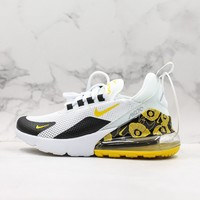 Nike Air Max 270 White Black Gold Floral Running Shoes