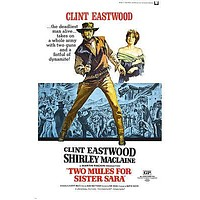 two MULES for SISTER sara MOVIE POSTER clint EASTWOOD shirley MACLAINE 24X36