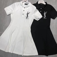 YSL Women Short Sleeve Dress
