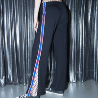 Contrast Side Panel Slit Detail Track Pants | mixxmix
