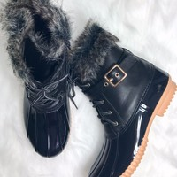 Weather Wonderland Black Duck Boots