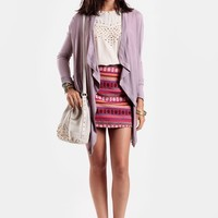 Four Corners Embroidered Miniskirt