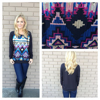 Black Lets Have Some Fun Sequin Sweater Top