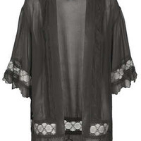 Lace Detail Kimono - New In This Week  - New In