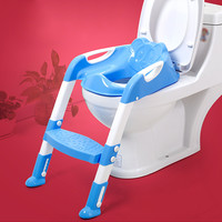 New Portable Blue Baby Toddler Potty Toilet Trainer Safety Seat Chair Step Folding Toilet Training Adjustable Non-Slip Ladder