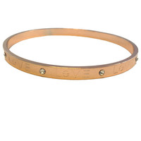 Rose Gold Love Bangle Bracelet - My Jewel Candy