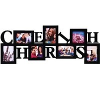"""Adeco [PF0016-B] 7 Openings """"Cherish"""" Picture Frame - Multi Sizes - Holds five 3.5x5 inches photos and two 4x4 inches photos"""