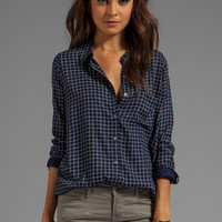 Soft Joie Anabella Plaid Button Down in Peacoat from REVOLVEclothing.com