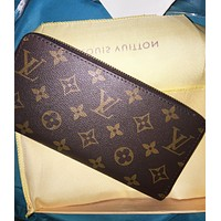 Louis Vuitton LV New Fashion Clutch Bag Wristlet Classic Women Leather Print Purse Wallet