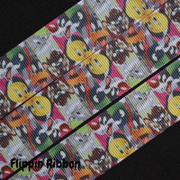 Sylvester, Bugs Bunny and Tweety Inspired Ribbon, 3 Yards, 1 inch Grosgrain